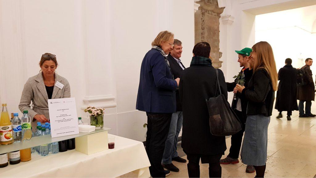 Nachempfang der Vergabe der Karl Hofer Stipendien des Freundeskreises der UdK Berlin | Karl Hofer Gesellschaft im November 2019