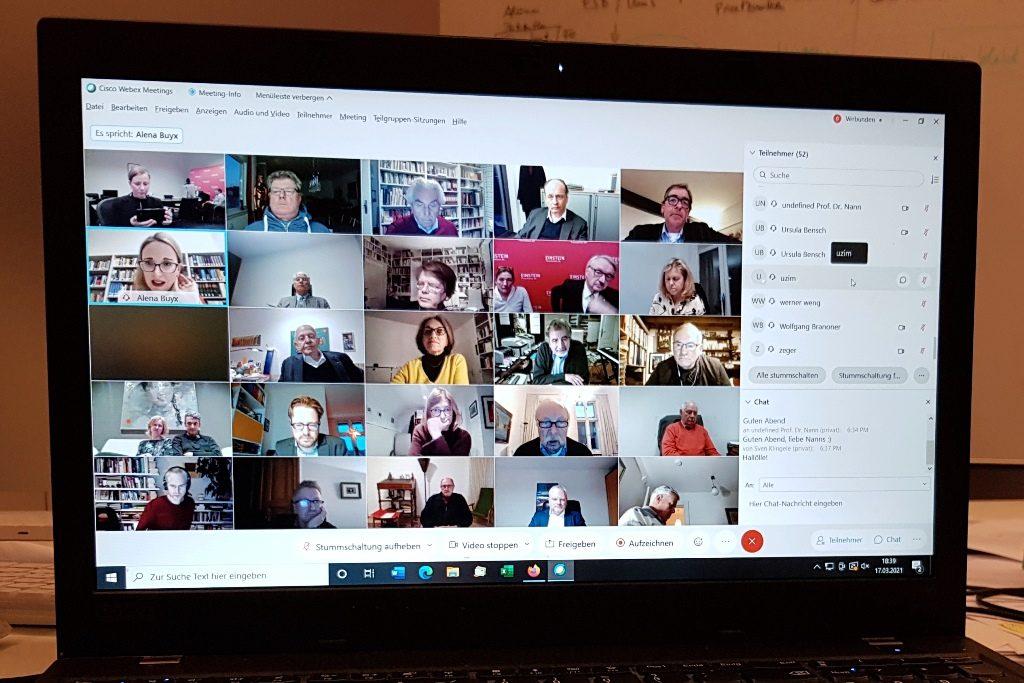 Online-Stammtisch der Baden-Württemberger in Berlin am 17. März 2021 mit Prof. Dr. Alena Buyx, Vorsitzende Deutscher Ethikrat, und Prof. Dr. Chistoph Möllers, Verfassungrechtler, zur aktuellen Corona-Impfkampagne